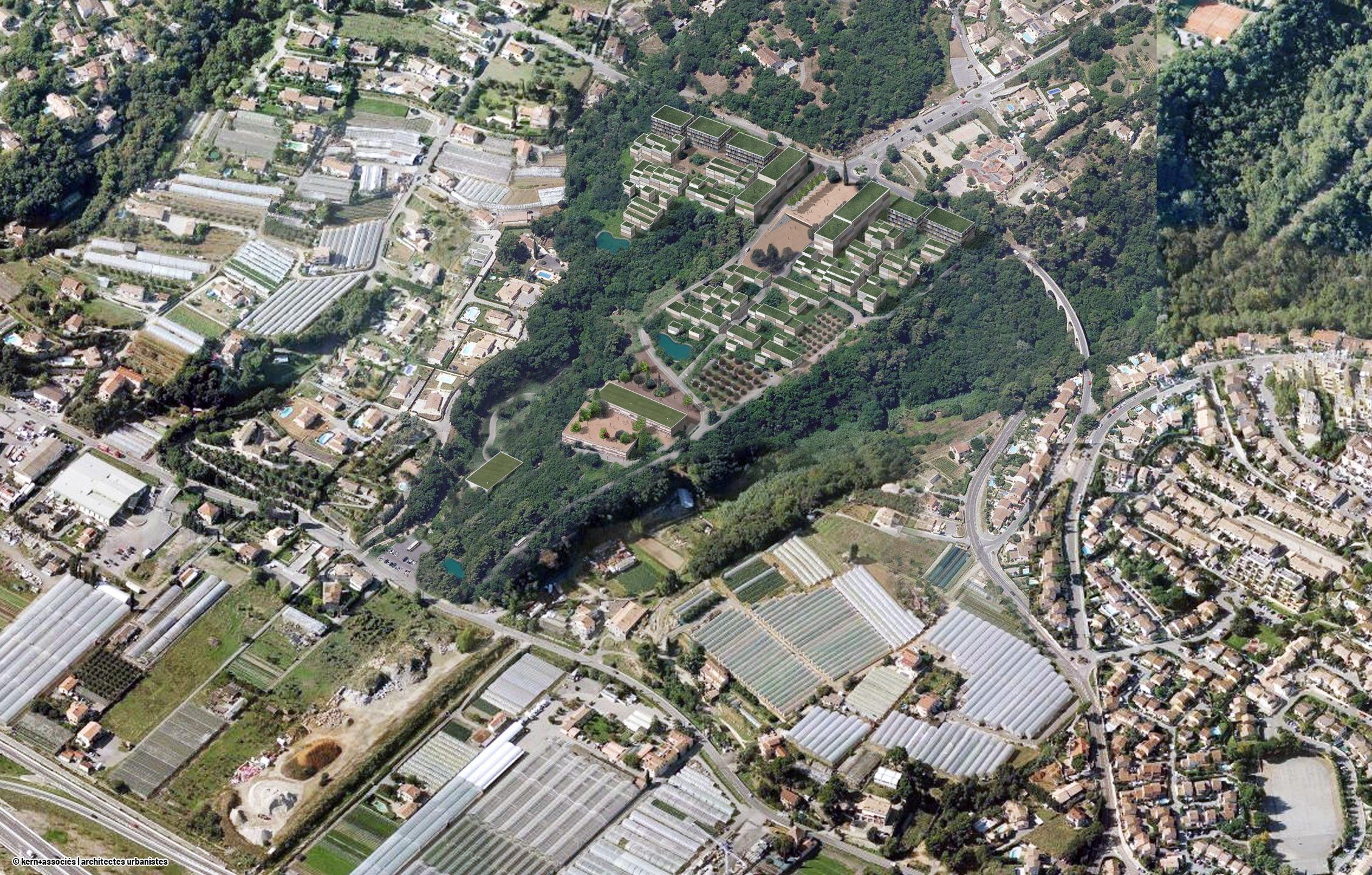 Les hameaux et le lycée, secteur des Breguières - Kern + associés kern-architecte.com
